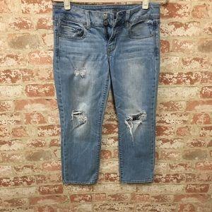 American Eagle Artist Crop distressed jeans